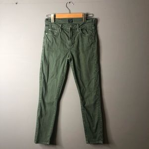 Citizens of Humanity Rocket Crop Green Jeans 25